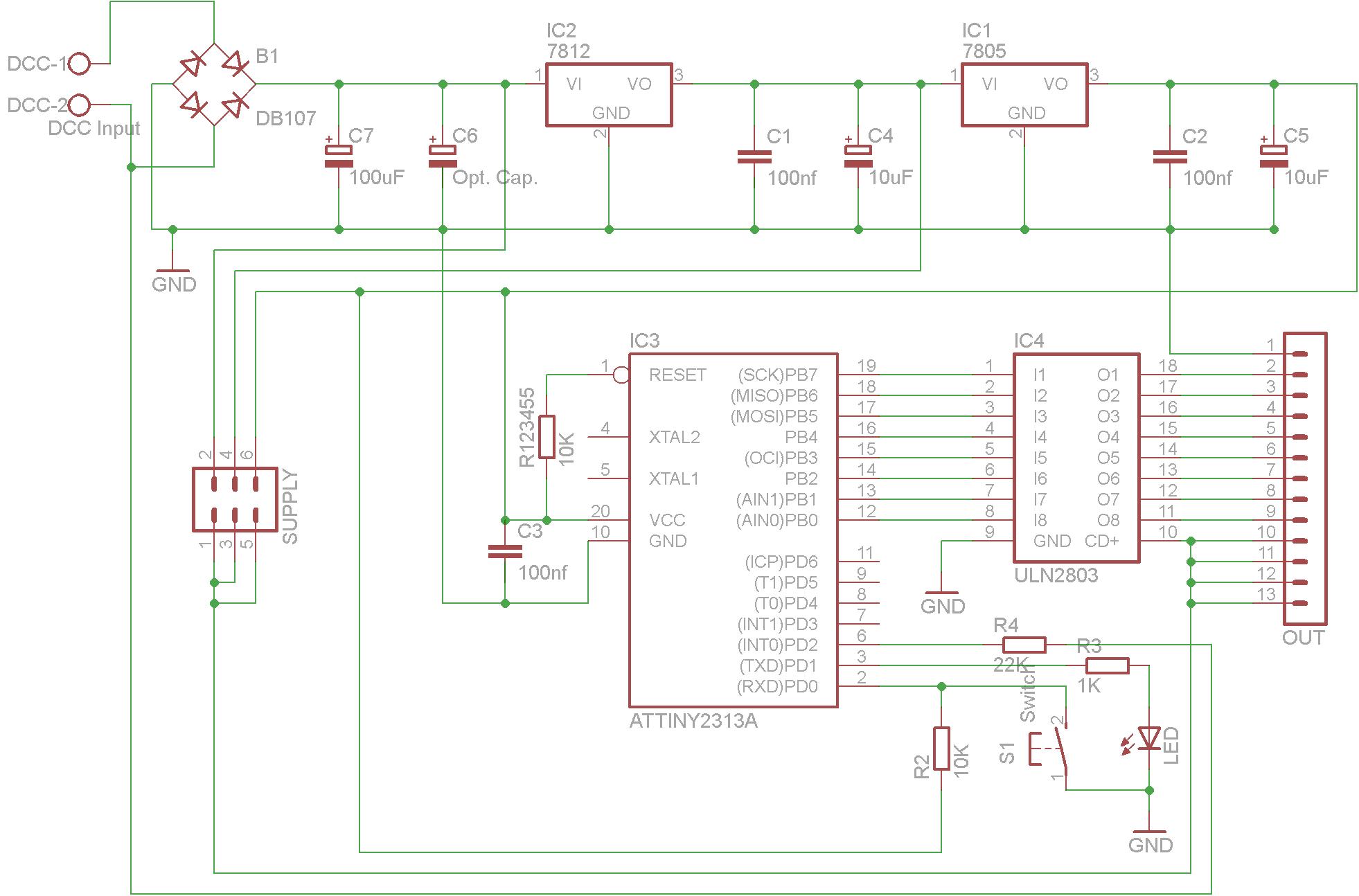 DIY DCC Accessory decoder. – Lydo Dcc Decoder Schematic on